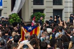 Pacyfik strajka protest, Barcelona zdjęcie stock