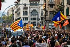 Pacyfik strajka protest, Barcelona zdjęcia royalty free