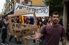 Pacyfik strajka protest, Barcelona zdjęcia stock