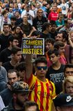 Pacyfik strajka protest, Barcelona obrazy royalty free