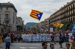 Pacyfik strajka protest, Barcelona obraz royalty free