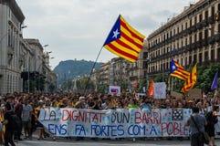 Pacyfik strajka protest, Barcelona obrazy stock