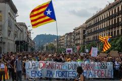 Pacyfik strajka protest, Barcelona fotografia stock
