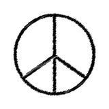 Pacyfistyczny symbol Obrazy Stock