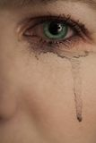 płacz 01 oko Fotografia Stock