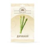 Paczka asparagus sia ikonę royalty ilustracja
