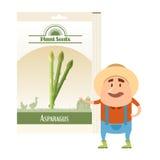 Paczka asparagus sia ikonę Obraz Stock