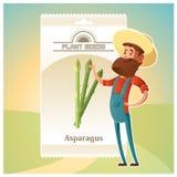 Paczka asparagus sia ikonę Fotografia Royalty Free