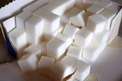 Paczka cukrowi sześciany obrazy stock