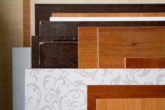 Paczka części particleboard w meblarskiej produkci Obraz Royalty Free