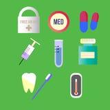 Paczka medyczne ikony Obrazy Stock