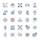 Paczka Nowo?ytne technologii ikony ilustracja wektor