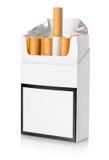 Paczka papierosy odizolowywający fotografia royalty free