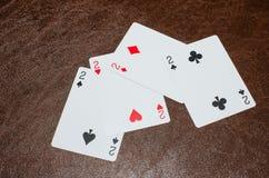 Paczka 2s karty na leżance Obrazy Stock