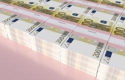 Paczki 200 Euro rachunków Zdjęcie Royalty Free