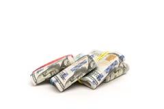 Paczki sto dolarowych rachunków Obrazy Stock