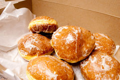 Paczkis in a box. Royalty Free Stock Photos