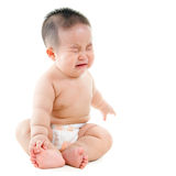 Płaczu azjata chłopiec Zdjęcia Royalty Free