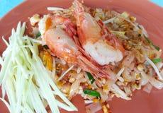 """Pad ανακατώνω-τηγανισμένο  νουντλς ρυζιού Thai†με τις γαρίδες Ταϊλανδικό ύφος φ Στοκ φωτογραφία με δικαίωμα ελεύθερης χρήσης"