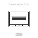 pad Линейный значок иллюстрация вектора