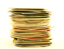 Pad. High pile of beer pads Stock Photo