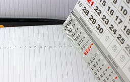 Pad on calendar sheets Stock Photography