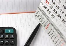 Pad on calendar sheets Stock Image