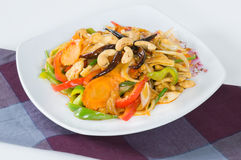 Pad cashew nut with chicken and sauteed Royalty Free Stock Photography