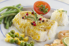Pad cod cod fillet dish Stock Photos