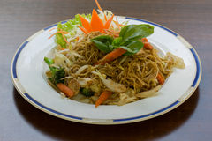 Pad Kee Mao with Egg Noodle Royalty Free Stock Photo