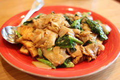 Pad kee mao with tofu Stock Photography