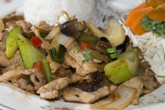 Pad khing thai food Stock Photography