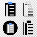 Pad List Items Vector EPS Icon with Contour Version vector illustration
