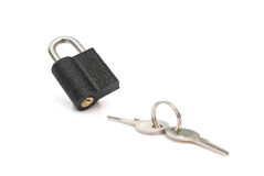 Pad lock and keys. With clipping path Royalty Free Stock Photos
