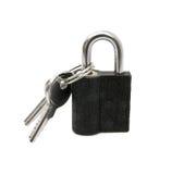 Pad lock and keys Royalty Free Stock Image