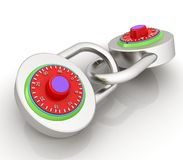 Pad lock. On a white background royalty free illustration