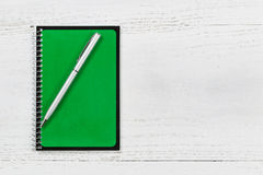Pad and pen on desk Royalty Free Stock Photography
