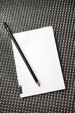 Pad and pencil Stock Photo