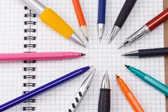 Pad and pens Royalty Free Stock Photo