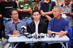 PAD's leaders giving a press conference Stock Photography