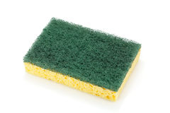 Pad scourer and sponge. Washing-up pad scourer and sponge isolated on white Royalty Free Stock Photos