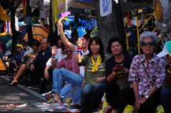 PAD supporter at their rally in Bangkok Stock Photography