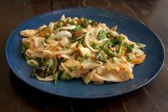 Pad Thai. A warm plate of fresh Pad Thai Stock Photo