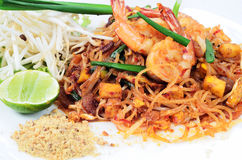 Pad Thai. Stir Fried Noodles With Shrimp,Pad-Thai stock image