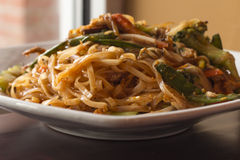 Pad Thai Chicken Stock Photography
