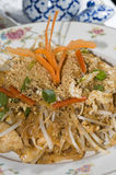 Pad thai chicken thailand food Royalty Free Stock Image