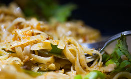 Pad Thai with Cilantro Stock Photos