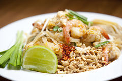 Pad Thai. Cooked famous and delicious Pad Thai of Thailand Royalty Free Stock Images
