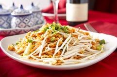 Pad Thai. Dish photographed at a local Thai restaurant royalty free stock photo