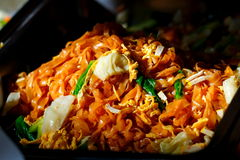 Pad Thai,Fried noodle Thai style ,Thai foods. Royalty Free Stock Photography